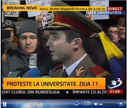 Bravo Alexandru Gheorghe. Cinste ţie ofiţer al României!